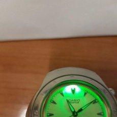 Relojes - Casio: UN RELOJ DE CABALLERO (VINTAGE) CASIO DE CUARZO EDIFICE SUPER ILUMINATOR WR 100 METROS, CORREA GOMA. Lote 68244025