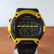 Relojes - Casio: RELOJ DE CABALLERO (VINTAGE) CASIO 1817 W-92 H FUNCIONANDO CON CORREA DE CAUCHO PARA EL USO DIARIO. Lote 73574407
