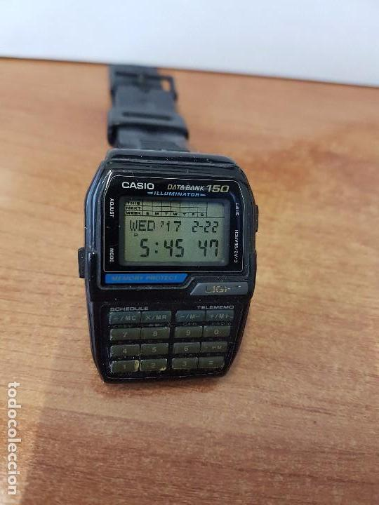 Relojes - Casio: Reloj caballero Vintage Casio Data Bank DBC - 150 módulo 1477 con correa Casio original para su uso - Foto 3 - 77595005
