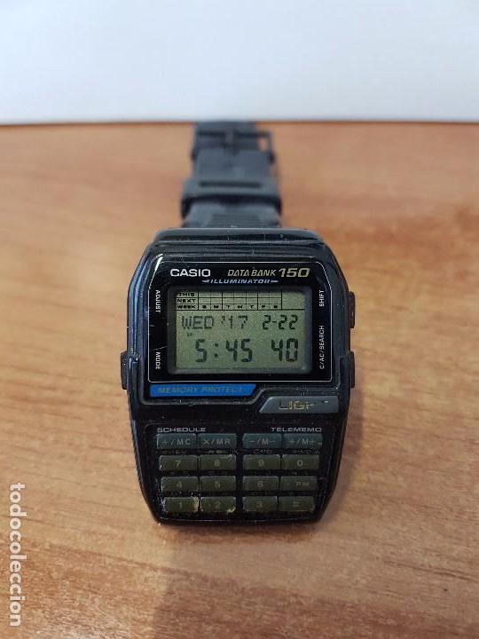 Relojes - Casio: Reloj caballero Vintage Casio Data Bank DBC - 150 módulo 1477 con correa Casio original para su uso - Foto 5 - 77595005