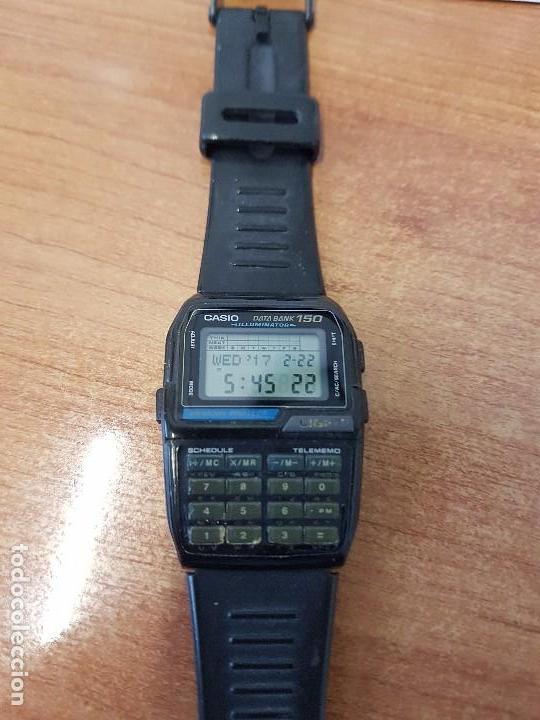 Relojes - Casio: Reloj caballero Vintage Casio Data Bank DBC - 150 módulo 1477 con correa Casio original para su uso - Foto 6 - 77595005