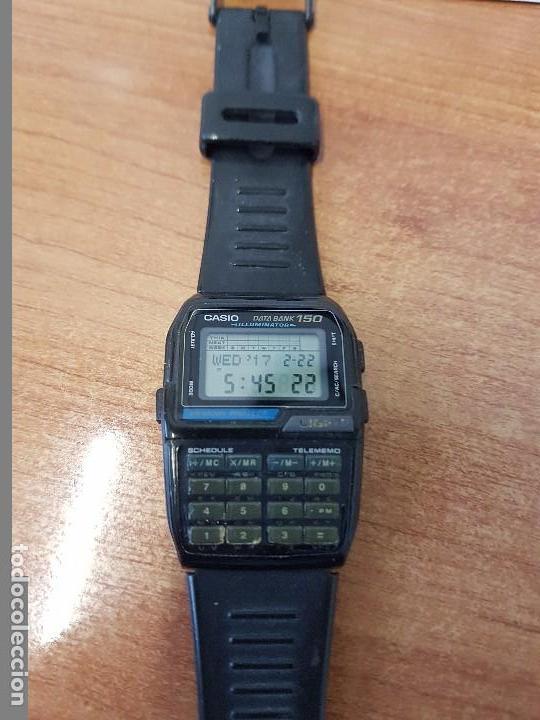 Relojes - Casio: Reloj caballero Vintage Casio Data Bank DBC - 150 módulo 1477 con correa Casio original para su uso - Foto 7 - 77595005