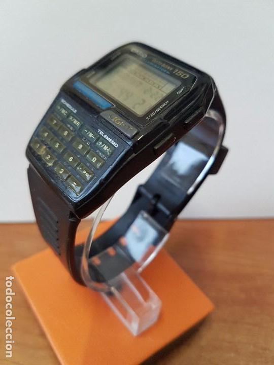 Relojes - Casio: Reloj caballero Vintage Casio Data Bank DBC - 150 módulo 1477 con correa Casio original para su uso - Foto 9 - 77595005