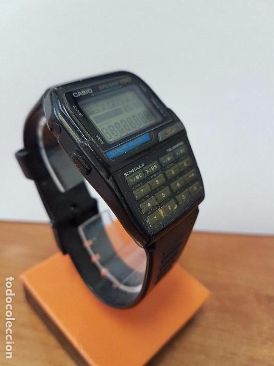 Relojes - Casio: Reloj caballero Vintage Casio Data Bank DBC - 150 módulo 1477 con correa Casio original para su uso - Foto 11 - 77595005
