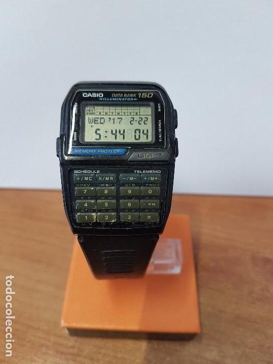 Relojes - Casio: Reloj caballero Vintage Casio Data Bank DBC - 150 módulo 1477 con correa Casio original para su uso - Foto 13 - 77595005