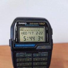 Relojes - Casio: RELOJ CABALLERO VINTAGE CASIO DATA BANK DBC - 150 MÓDULO 1477 CON CORREA CASIO ORIGINAL PARA SU USO . Lote 77595005