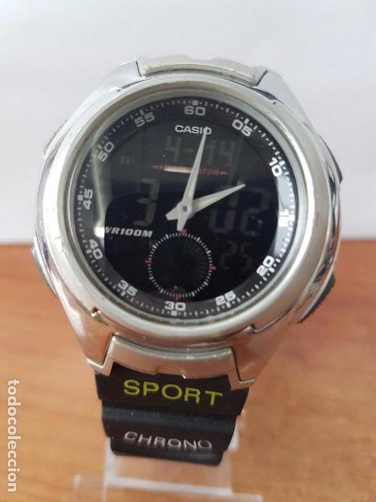 Para 3319Aq Funcionando Reloj De Con Correa Diario Uso El CaballerovintageCasio 160 Caucho uXPZiOk