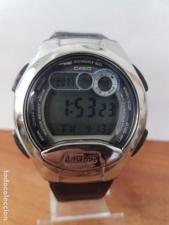 CaballerovintageCasio 752Con Para Goma 2925 Funcionando De Su W Calibre Reloj Correa Uso n0mNw8