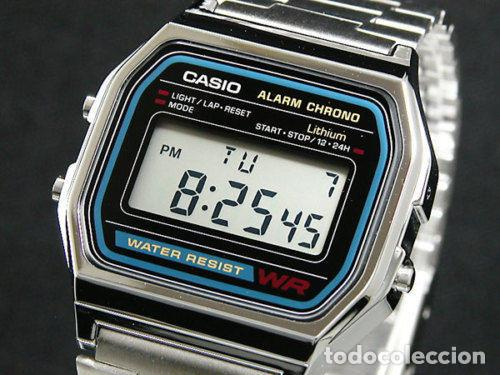 97830ab3a2df Reloj Casio The Original retro vintage unisex classic silver steel acero 100%  ORIGINAL NUEVO!