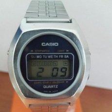 Relojes - Casio: RELOJ DE CABALLERO (VINTAGE) CASIO MODELO 31QR-17 CON CORREA ORIGINAL DE CASIO DE ACERO CRISTAL . Lote 85503408