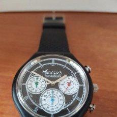Relojes - Casio: RELOJ DE CABALLERO CUARZO TIKKERS CRONOGRAFO CAJA ACERO, CORREA DE SILICONA NUEVA ES DE STOCK TIEND . Lote 85524880