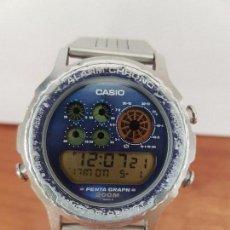 Relojes - Casio: RELOJ DE CABALLERO (VINTAGE) CASIO DIGITAL CON CORREA DE ACERO ORIGINAL CASIO, CRISTAL NUEVO ORIGINA. Lote 85608076