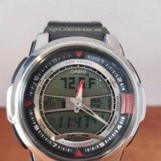 Relojes - Casio: RELOJ DE CABALLERO (VINTAGE) ANALÓGICO Y DIGITAL CON CORREA DE GOMA, CRISTAL SIN RAYAS, CAJA BIEN. Lote 85615284