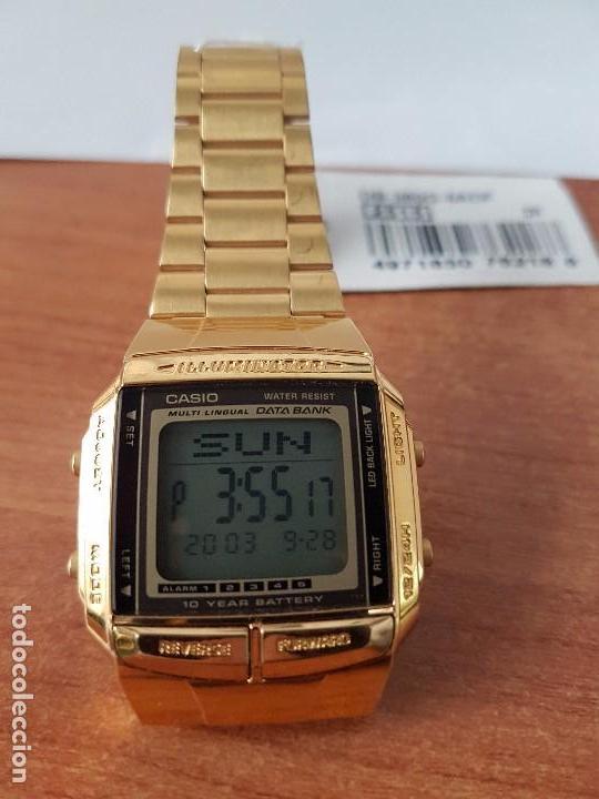 Bank Casio Correa Con Oro Cuadrado Caballero De Retro Chapado Reloj Stock Original Data hsQCtrd