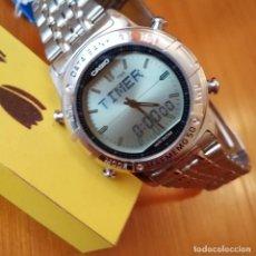 Relojes - Casio: RELOJ CASIO VINTAGE ABX-600 DATA BANK TWINCEP NUEVO NOS. Lote 87715216