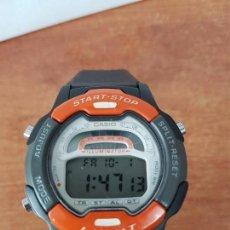 Relojes - Casio: RELOJ DE CABALLERO CASIO (VINTAGE) MODELO 1822 - W-729 H, CON CORREA DE GOMA FUNCIONANDO PARA SU USO. Lote 61682060