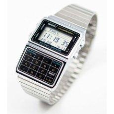 Relojes - Casio: RELOJ CASIO WATCH DATA BANK CALCULATOR DBC-611E-1EF STEEL SILVER PLATE MONTRE OROLOGIO NUEVO!!!. Lote 143602432