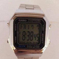 Relojes - Casio: RELOJ DE CABALLERO CASIO DIGITAL 10 AÑOS DE LA BATERÍA DE ACERO CON CORREA ORIGINAL DE ACERO. Lote 92283085