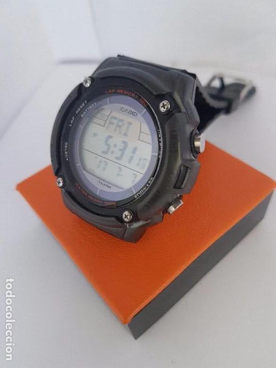 Caballero Correa 3197 S200hCristal De W Negra Fondo Sin Casio Reloj Rayas Silicona Con LcqA54jS3R