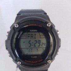 Relojes - Casio: RELOJ DE CABALLERO CASIO CON CORREA DE SILICONA NEGRA FONDO 3197 W- S200H, CRISTAL SIN RAYAS . Lote 92367060