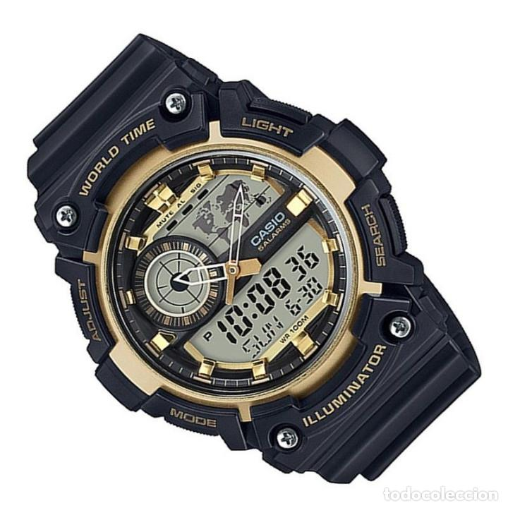 Adventure amp;black Reloj Nuevo Casio Anadigital World G Time Traveler Gold Montre Watch Shock SpqUMzVG