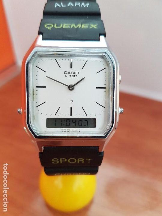 39d4600940ba Relojes - Casio  Reloj caballero (Vintage) CASIO analógico y digital de  acero