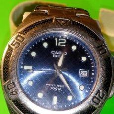 Relojes - Casio: CASIO EDIFICE EF-101. JAPONES. FUNCIONANDO. TODO ACERO. ANCHO SIN 40 MM. DESCRIP. Y FOTOS.. Lote 95447571