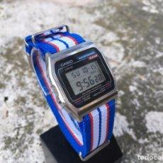 Relojes - Casio: ANTIGUO RELOJ LCD CASIO W-38 ACERO AÑOS 80 BUEN ESTADO. Lote 100528859