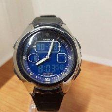 Relojes - Casio: RELOJ CABALLERO CASIO 3319 AQ-160 ACERO Y SILICONA CON CORREA DE SILICONA NO ORIGINAL, CRISTAL BIEN . Lote 102269427