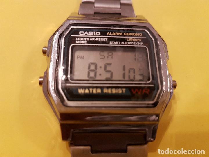 3849711fb8f4 Fantastico reloj vintage casio cromado pulsera - Sold at Auction ...