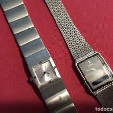 Relojes - Casio: LOTE (2) RELOJES ANTIGUOS EN ACERO. Lote 104777655