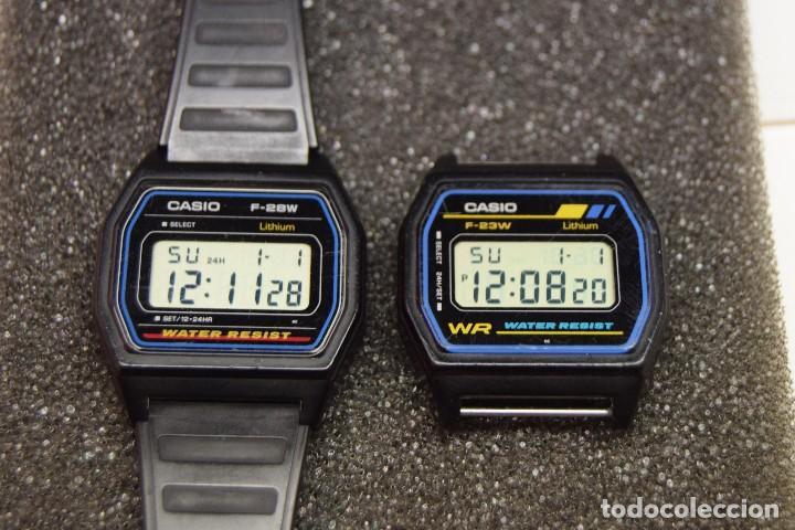 2 RELOJ CASIO VINTAGE USADOS - FUNCIONAN PERFECTAMENTE CON PILA RECIÉN PUESTA F23 W F28W (Relojes - Relojes Actuales - Casio)