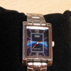 Relojes - Casio: RELOJ CASIO MODELO LTP-1234 UN CLASICO DISEÑO EN ACERO CON ESFERA AZUL. Lote 109044359