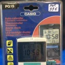 Relojes - Casio: RELOJ DESPERTADOR CASIO PQ 15 ¡¡ TERMOMETRO !! !!NUEVO!!. Lote 114299731