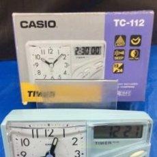 Relojes - Casio: RELOJ DESPERTADOR CASIO TC 112 ¡¡ TIMER !! VINTAGE !!NUEVO!!. Lote 114300391