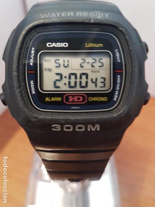 e7567540265 Reloj caballero (Vintage) Casio de 300 metros de silicona con correa de  goma original Casio
