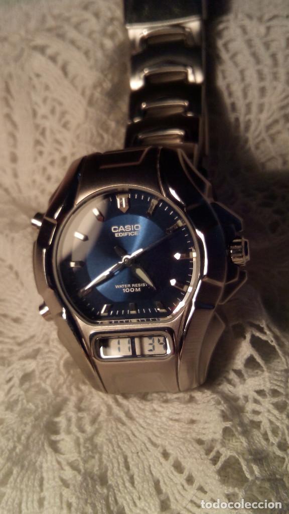 RELOJ CASIO-EDIFICE 2.318 EFA-100 - COMPLET. ACERO CROMADO. FUNCIONANDO. PILA NU. OCTUB 2.018. FOTOS (Relojes - Relojes Actuales - Casio)
