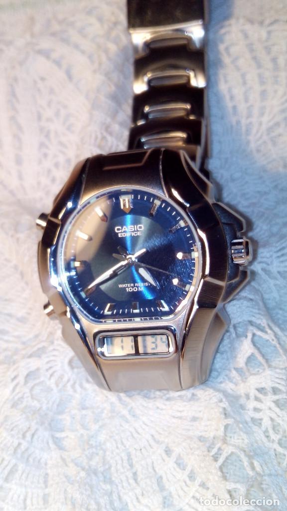 Relojes - Casio: RELOJ CASIO-EDIFICE 2.318 EFA-100 - COMPLET. ACERO CROMADO. FUNCIONANDO. PILA NU. OCTUB 2.018. FOTOS - Foto 2 - 115784843
