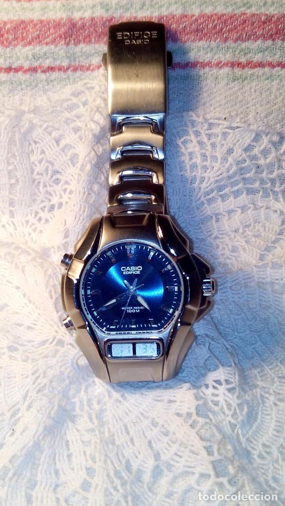 Relojes - Casio: RELOJ CASIO-EDIFICE 2.318 EFA-100 - COMPLET. ACERO CROMADO. FUNCIONANDO. PILA NU. OCTUB 2.018. FOTOS - Foto 3 - 115784843