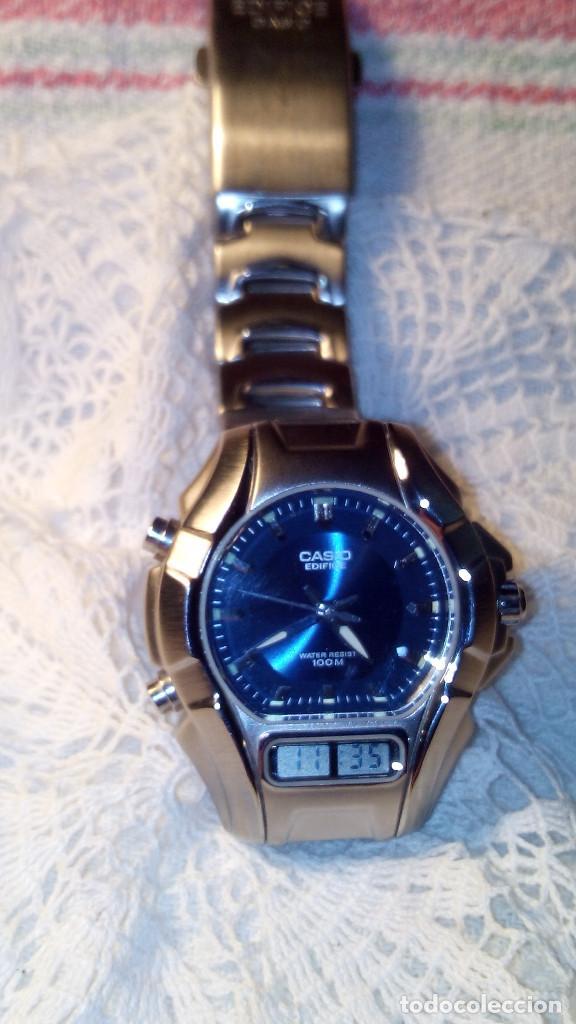Relojes - Casio: RELOJ CASIO-EDIFICE 2.318 EFA-100 - COMPLET. ACERO CROMADO. FUNCIONANDO. PILA NU. OCTUB 2.018. FOTOS - Foto 4 - 115784843