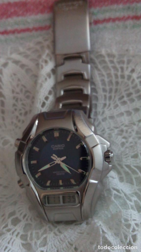 Relojes - Casio: RELOJ CASIO-EDIFICE 2.318 EFA-100 - COMPLET. ACERO CROMADO. FUNCIONANDO. PILA NU. OCTUB 2.018. FOTOS - Foto 5 - 115784843