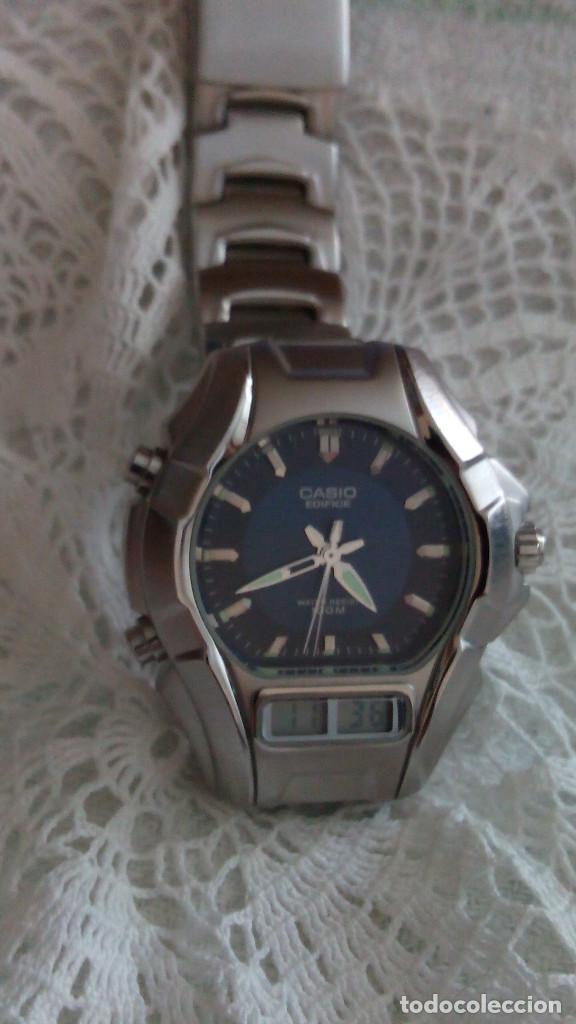 Relojes - Casio: RELOJ CASIO-EDIFICE 2.318 EFA-100 - COMPLET. ACERO CROMADO. FUNCIONANDO. PILA NU. OCTUB 2.018. FOTOS - Foto 6 - 115784843