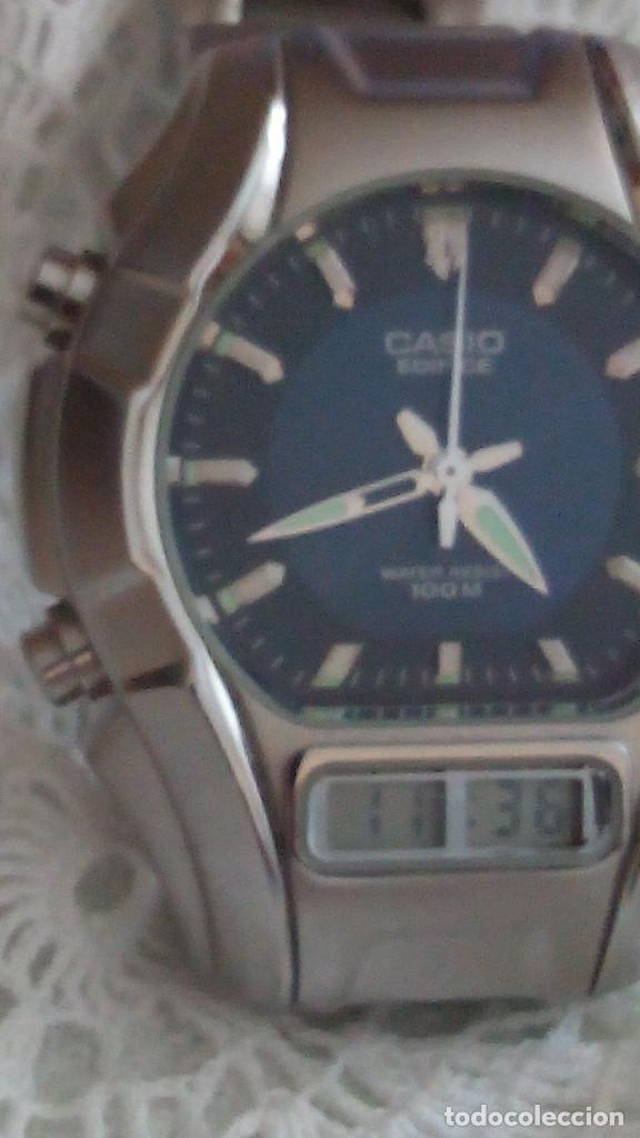 Relojes - Casio: RELOJ CASIO-EDIFICE 2.318 EFA-100 - COMPLET. ACERO CROMADO. FUNCIONANDO. PILA NU. OCTUB 2.018. FOTOS - Foto 7 - 115784843