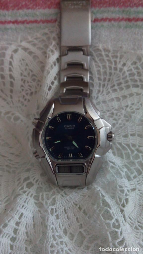 Relojes - Casio: RELOJ CASIO-EDIFICE 2.318 EFA-100 - COMPLET. ACERO CROMADO. FUNCIONANDO. PILA NU. OCTUB 2.018. FOTOS - Foto 8 - 115784843
