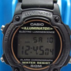 Relojes - Casio: RELOL CASIO ILUMINATOR EN SU CAJA ORIGINAL Y INSTUCIONES Y GARANTIA. Lote 117041263