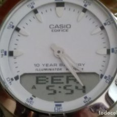 Relojes - Casio: CASIO - EDIFICE. FUNCIONANDO. VARIAS FUNCIONES. CON LUZ. 39 MM. S/C. (((TODO DE ACERO CROMADO))). Lote 117222931