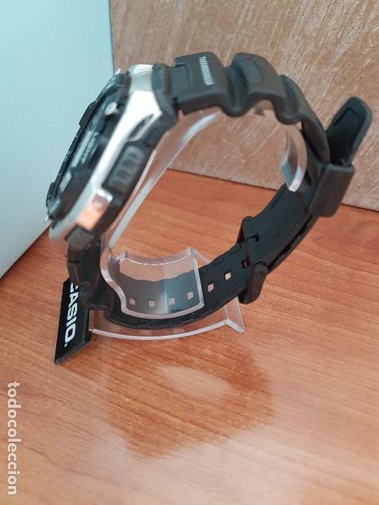 Relojes - Casio: Reloj caballero antiguo Casio analógico y digital, cronometro, termómetro, alarma, correa de resina - Foto 6 - 117381575