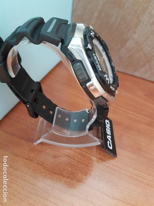 Relojes - Casio: Reloj caballero antiguo Casio analógico y digital, cronometro, termómetro, alarma, correa de resina - Foto 9 - 117381575