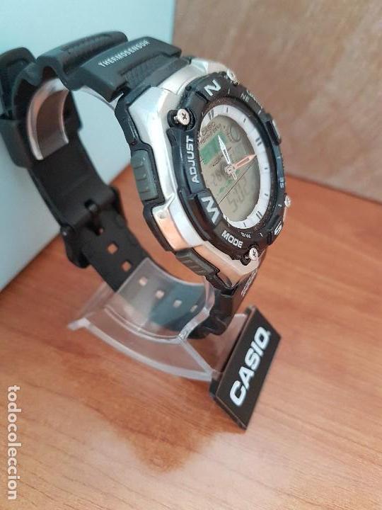 Relojes - Casio: Reloj caballero antiguo Casio analógico y digital, cronometro, termómetro, alarma, correa de resina - Foto 14 - 117381575