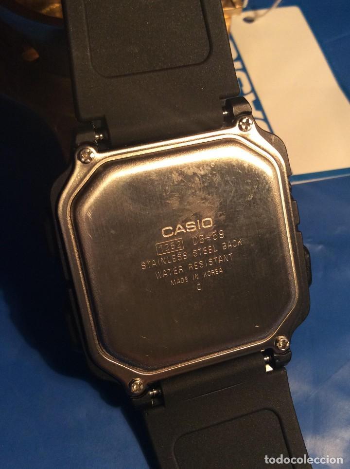 Relojes - Casio: RELOJ CASIO DB 59 ¡¡ DATA - BANK !! VINTAGE ¡¡NUEVO!! (VER FOTOS) - Foto 6 - 120034335